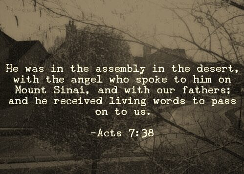 Acts 7 38